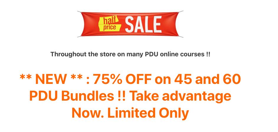 pdu for pmp renewal sales